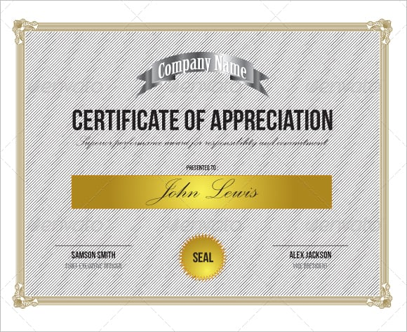 10 certificate of appreciation templates word excel pdf formats certificate of appreciation image 5 yadclub Choice Image