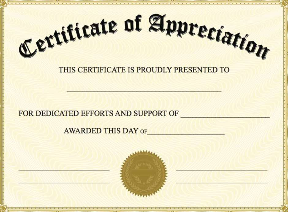 10 certificate of appreciation templates word excel pdf formats certificate of appreciation template free certificate of appreciation image 7 yelopaper Images