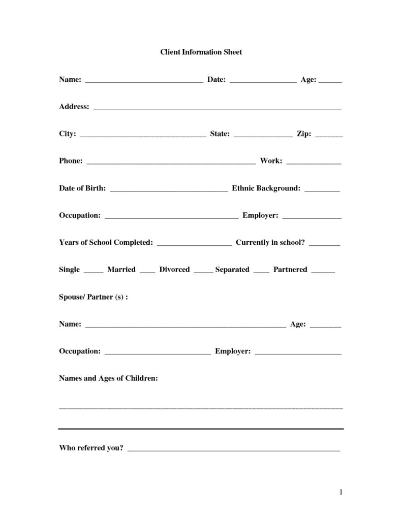 customer sheet template