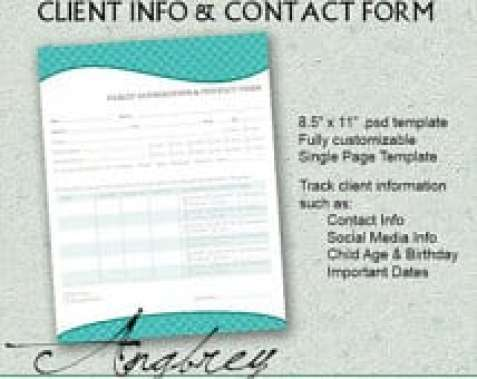 8+ Client Information Sheet Templates - Word Excel Pdf Formats