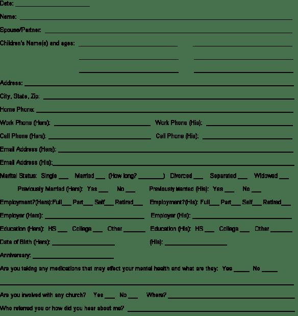 client information sheet template 6