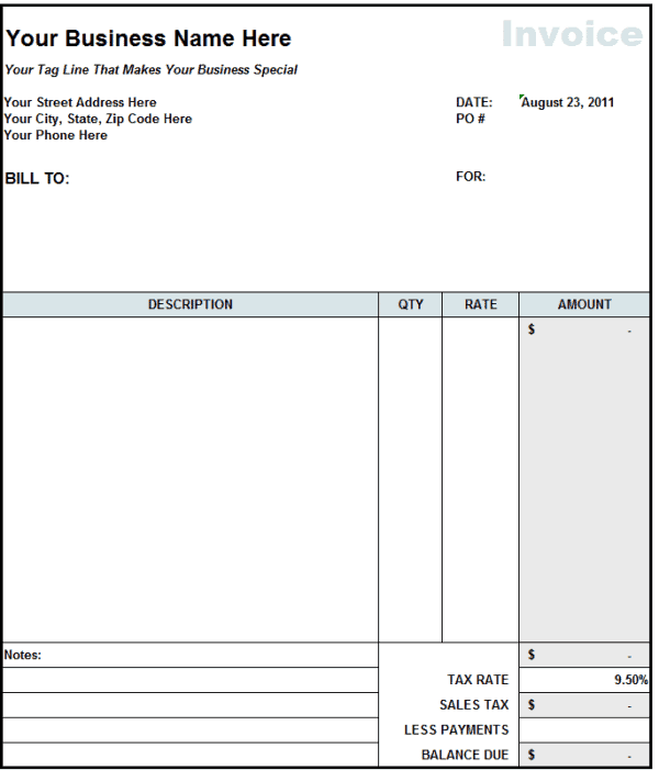 9 Contractor invoice Templates Word Excel PDF Formats – Contractor Receipt