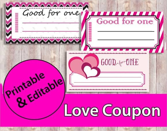 11 free coupon templates word excel pdf formats for Love coupon template for word