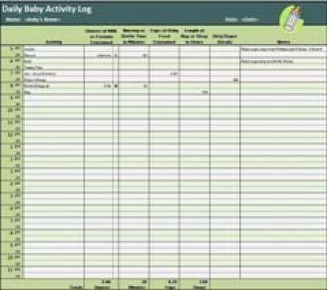 10 Daily activity log templates Word Excel PDF Formats – Activity Log Template