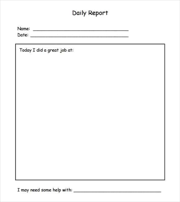 10+ Daily Report Templates  Daily Report Templates