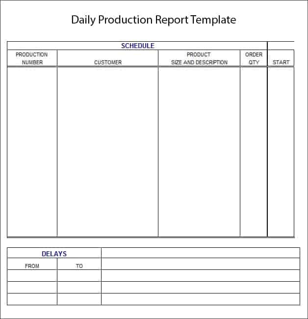 10 Daily report templates Word Excel PDF Formats – Daily Report Template