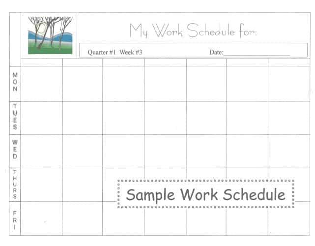work schedules samples
