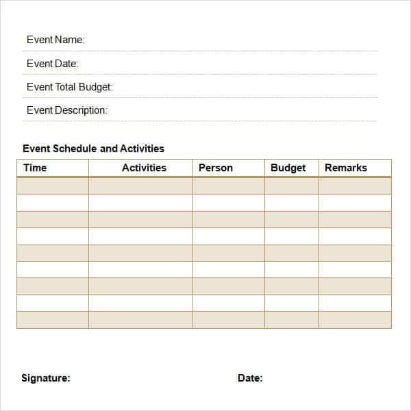 Elegant Event Proposal Image 1 Regarding Free Event Proposal Template