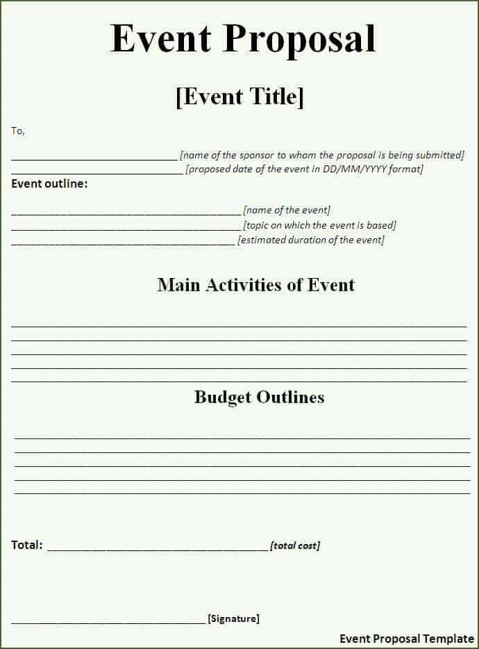 Sample Event Banquet Event Order Document Free Download Event Order