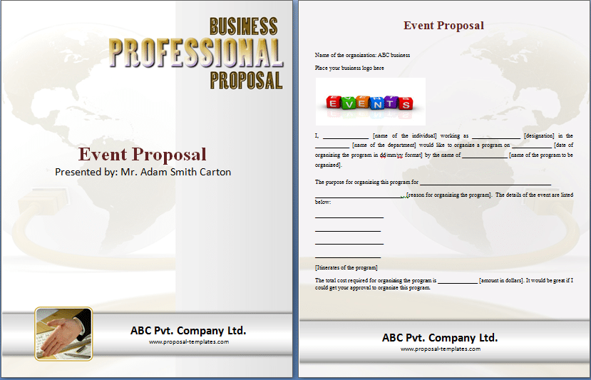 Microsoft Word Event Proposal Sample Template. Event Proposal Image 8  Microsoft Word Proposal Template Free Download