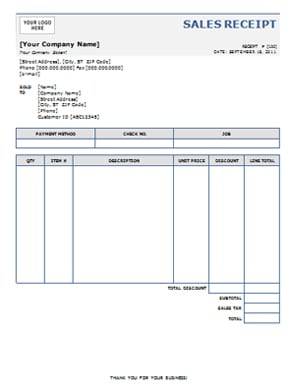 10+ Free Receipt Templates - Word Excel PDF Formats
