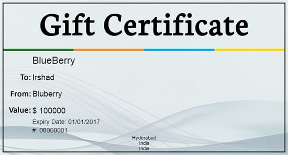10 gift certificate templates word excel pdf formats printable blank gift certificate yadclub Image collections