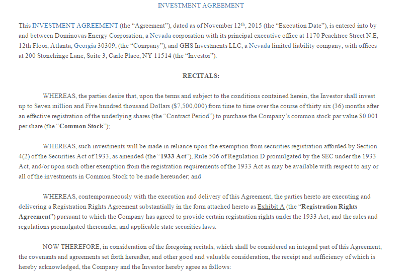 investment contract template 3