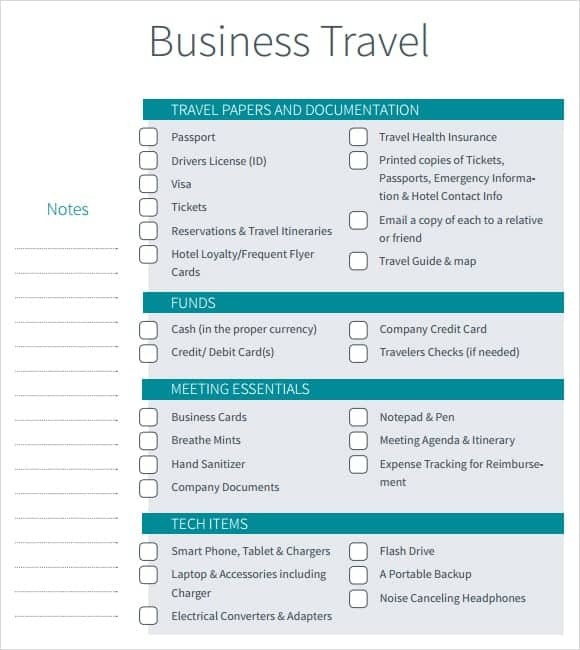 12 Itinerary Templates Word Excel Pdf Formats