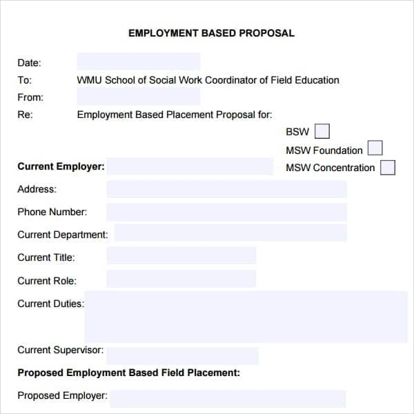Sample Job Proposal Template  BesikEightyCo