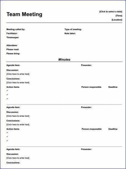9 meeting minutes templates word excel pdf formats