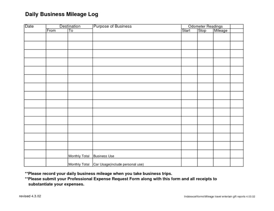 7+ Vehicle mileage log Templates - Word Excel PDF Formats