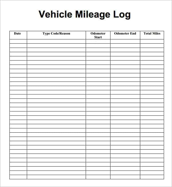 car mileage log template koni polycode co