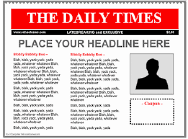 9 newspaper templates word excel pdf formats