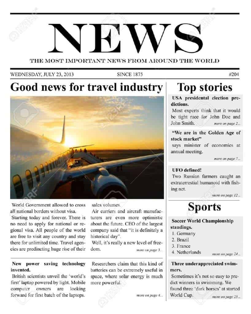 Download Free Newspaper template Archives - Word Templates
