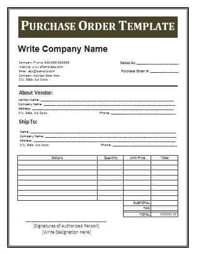11 Sample order form templates Word Excel PDF Formats