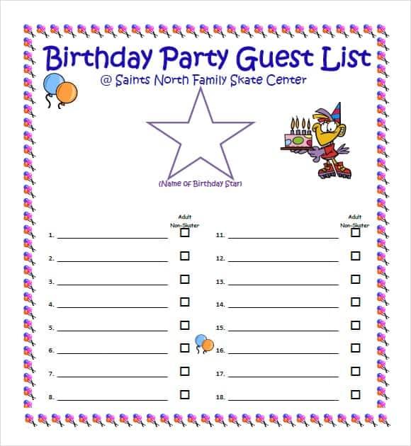 party guest list image 2