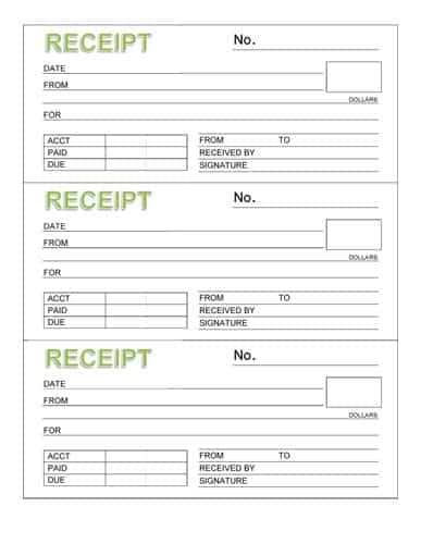 8+ Payment Receipt Templates - Word Excel Pdf Formats