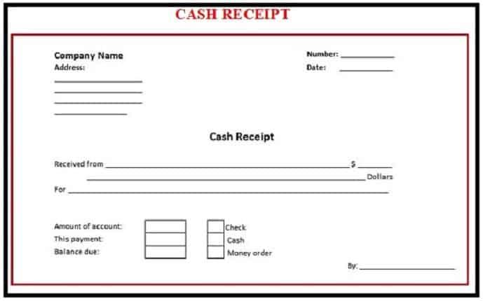 CASH RECEIPT TEMPLATES  Free Payment Receipt Template