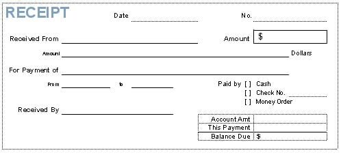 Bank Payment Receipt Template Archives  Word Templates