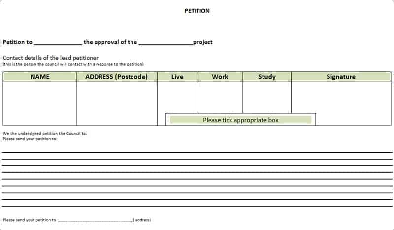 6+ Petition Templates - Word Excel PDF Formats