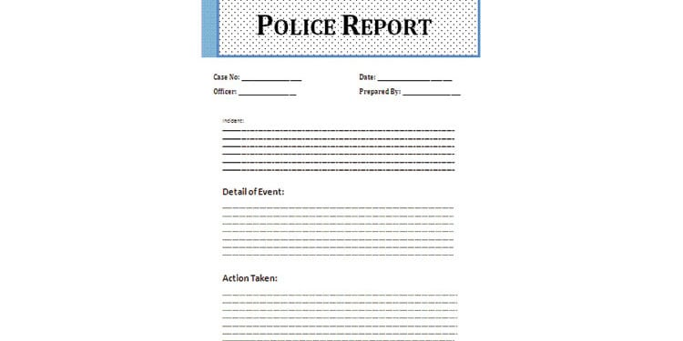word 2007 police report
