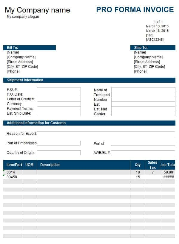 proforma invoices. occupyhistoryus fascinating diffrence between, Invoice templates