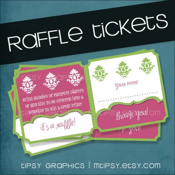 Raffle Ticket Templates Word Excel PDF Formats - Raffle ticket printing free template