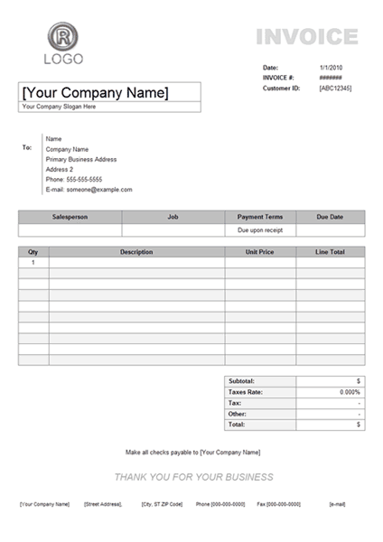 service invoice template image 3