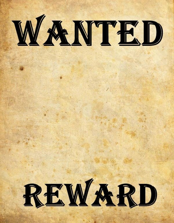 wanted poster image 1