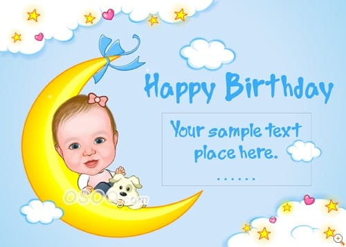 birthday card tenplate 9