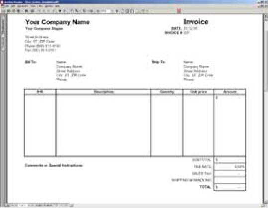 blank invoice template image 3