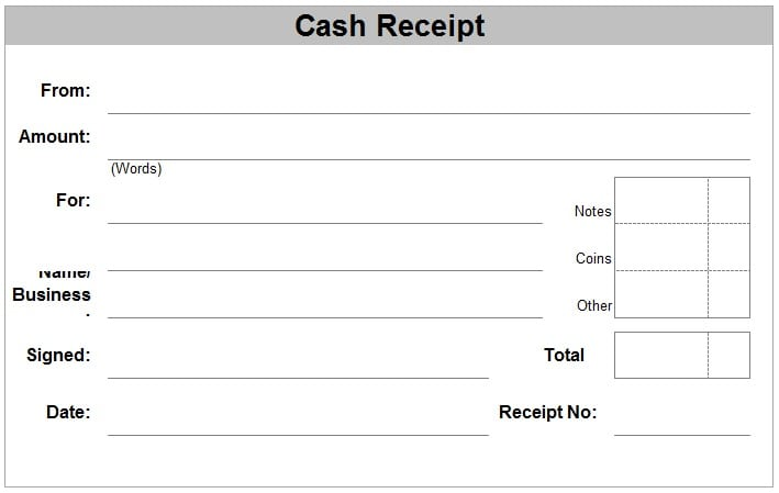 cash receipt template 1