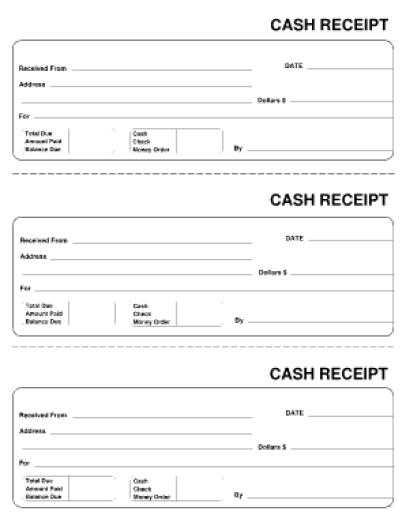 cash receipt template 4