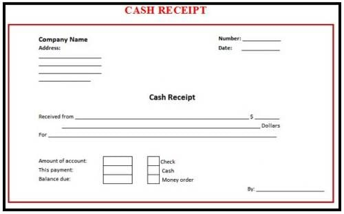 cash receipt template 6