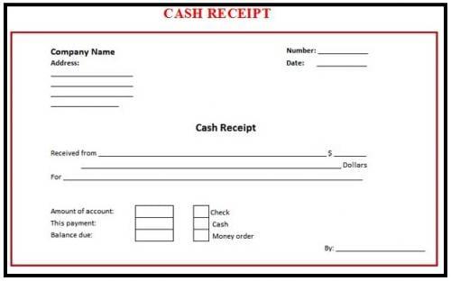 cash receipt template 6