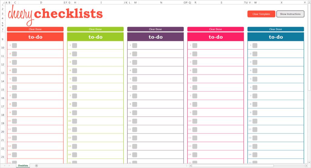 Checklist Template 8