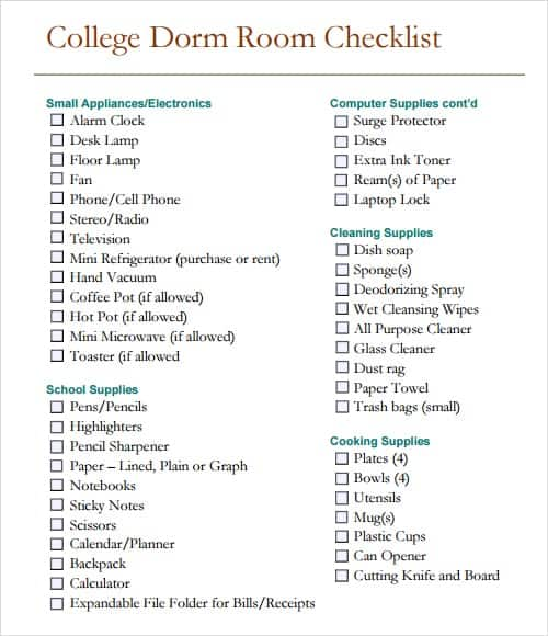 checklist template 9