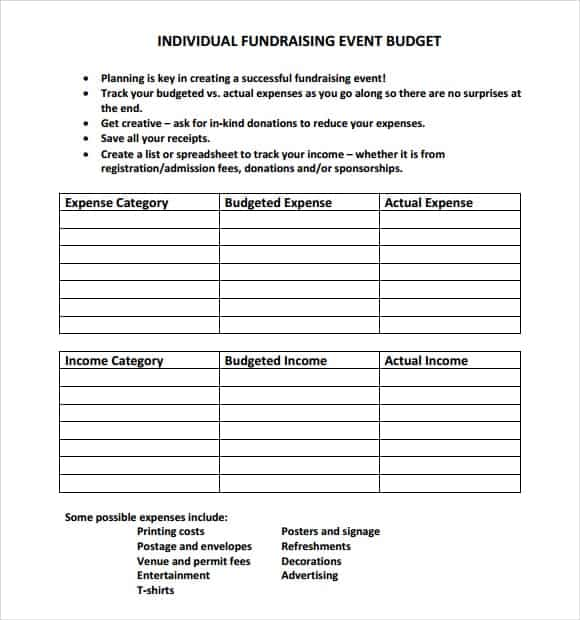 event budget template 1