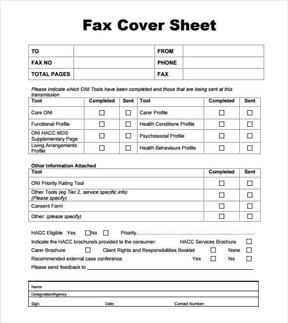 Fax Form Template. Free Cover Fax Sheet For Microsoft Office