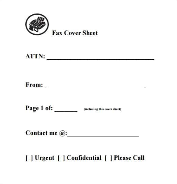 10+ Fax Cover Sheet Templates  Fax Cover Template Word