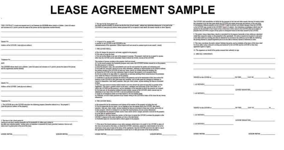 lease agreement template 12