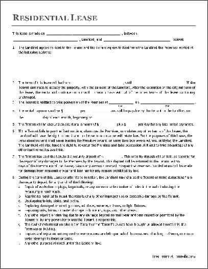 lease agreement template 8