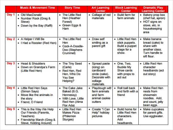 lesson plan template 9