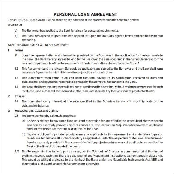 loan agreement template 17